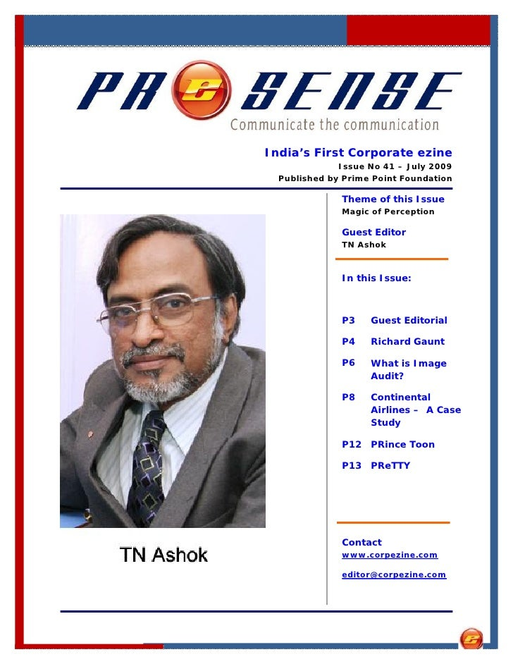India's First Corporate ezine               Issue No 41 – July 2009   Published by Prime Point Foundation                T...