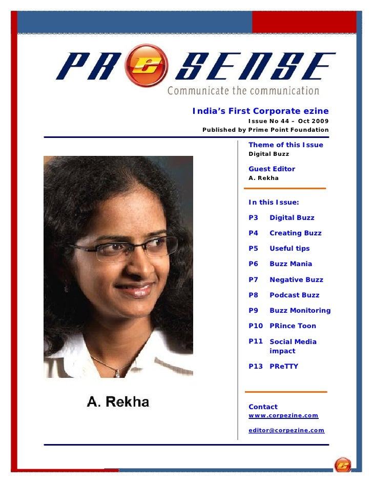 India's First Corporate ezine                Issue No 44 – Oct 2009   Published by Prime Point Foundation                T...