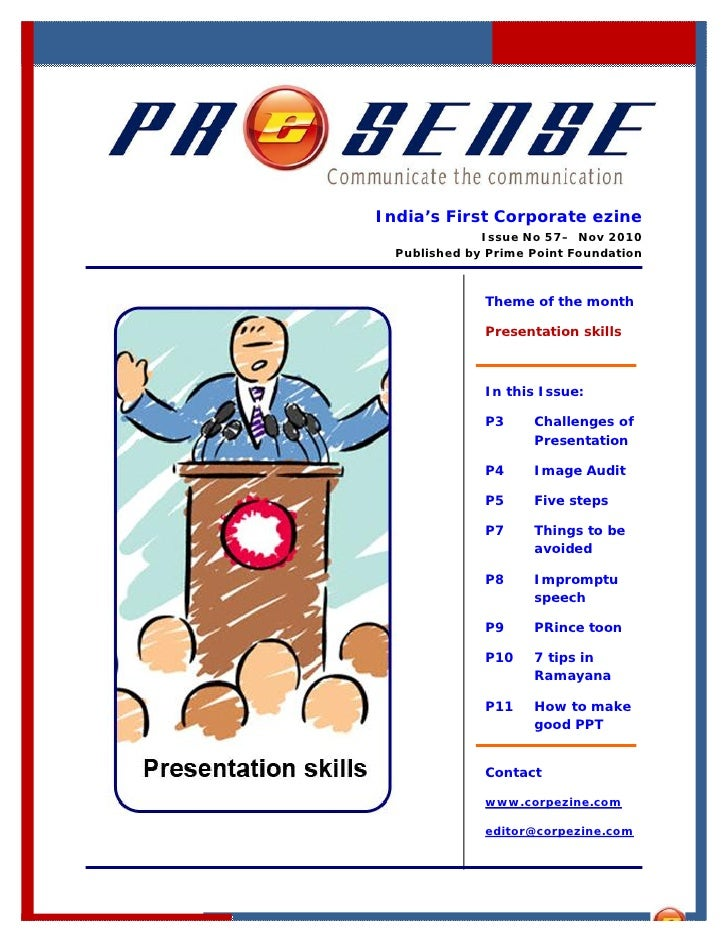 India's First Corporate ezine              Issue No 57– Nov 2010  Published by Prime Point Foundation              Theme o...