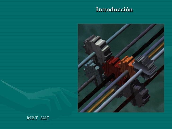 MET  2217 Introducción