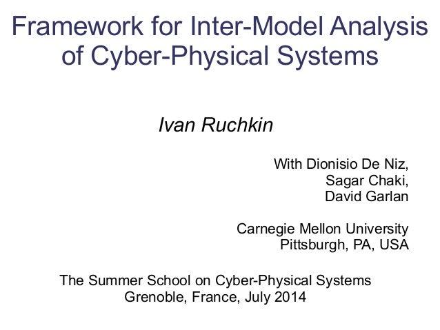 Framework for Inter-Model Analysis of Cyber-Physical Systems Ivan Ruchkin With Dionisio De Niz, Sagar Chaki, David Garlan ...