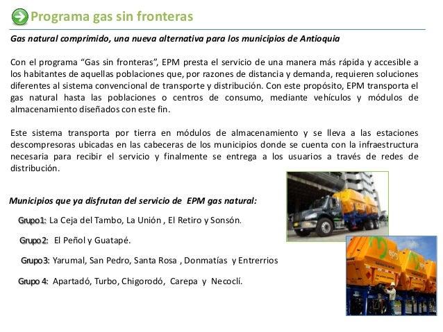 """Programa gas sin fronterasGas natural comprimido, una nueva alternativa para los municipios de AntioquiaCon el programa """"G..."""