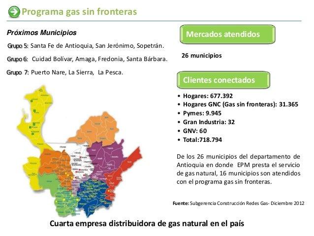 Programa gas sin fronterasPróximos Municipios                                               Mercados atendidosGrupo 5: San...