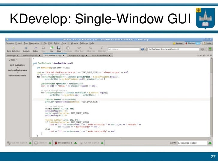 Single-Window Integrated Development Environment