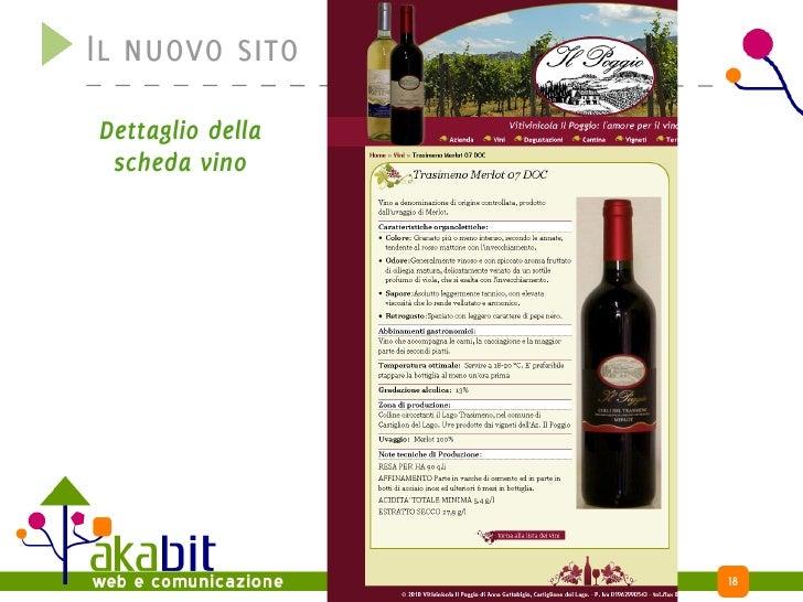 Il nuovo sito Dettaglio della  scheda vino                       18