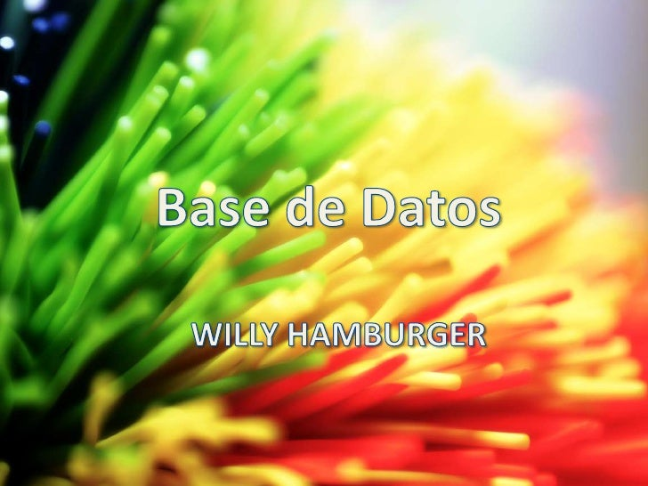 Base de Datos<br />WILLY HAMBURGER<br />