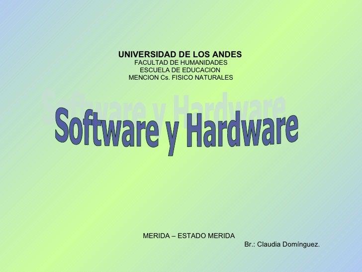 UNIVERSIDAD DE LOS ANDES   FACULTAD DE HUMANIDADES ESCUELA DE EDUCACION  MENCION Cs. FISICO NATURALES MERIDA – ESTADO MERI...