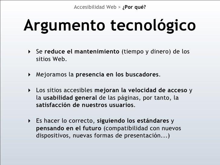 Presenta accesibilidad centrada en los usuarios 2009 for Que es accesibilidad