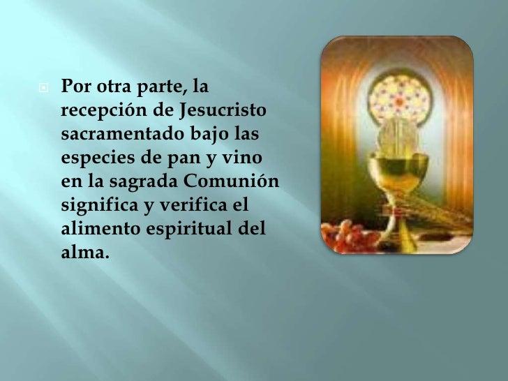 Resultado de imagen de la eucaristia es el alimento del alma