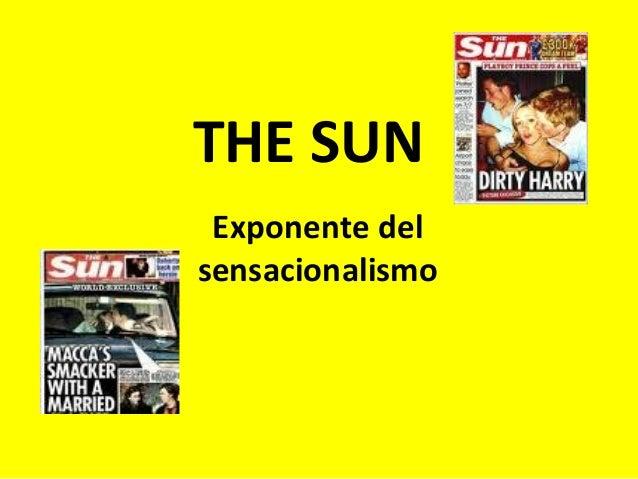 THE SUN Exponente del sensacionalismo