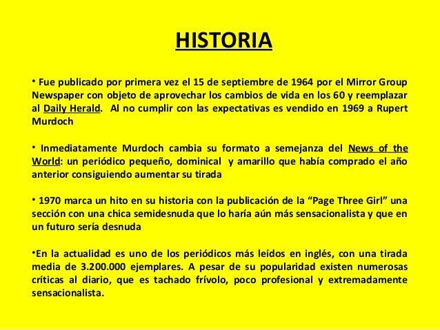 HISTORIA • Fue publicado por primera vez el 15 de septiembre de 1964 por el Mirror Group Newspaper con objeto de aprovecha...