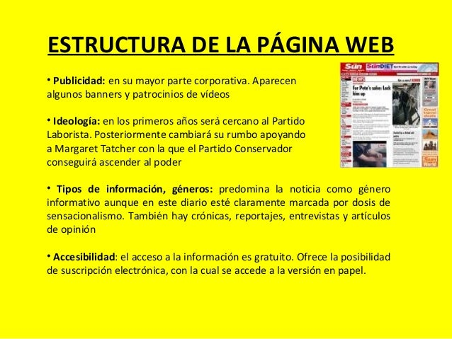 ESTRUCTURA DE LA PÁGINA WEB • Publicidad: en su mayor parte corporativa. Aparecen algunos banners y patrocinios de vídeos ...