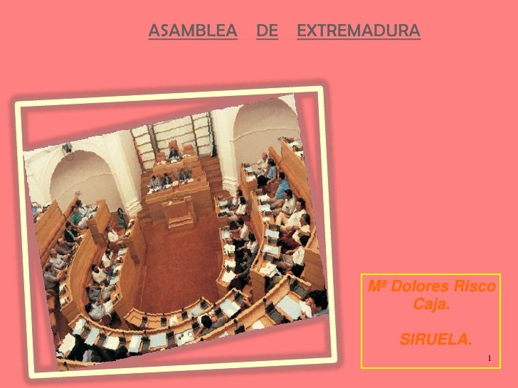 ASAMBLEADEEXTREMADURA<br />Mª Dolores Risco<br />Caja.<br />  SIRUELA.<br />1<br />