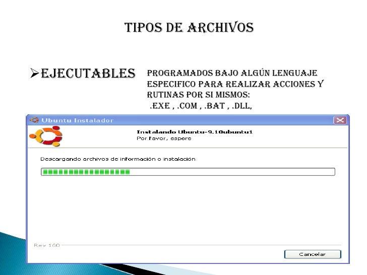 Archivos de Textos planos <br />.TXT:  texto sin grafico:<br />.NFO: DESCRIPCION DE UN ARCHIVO ZIP.<br />.HTML/HTM: HIPERT...