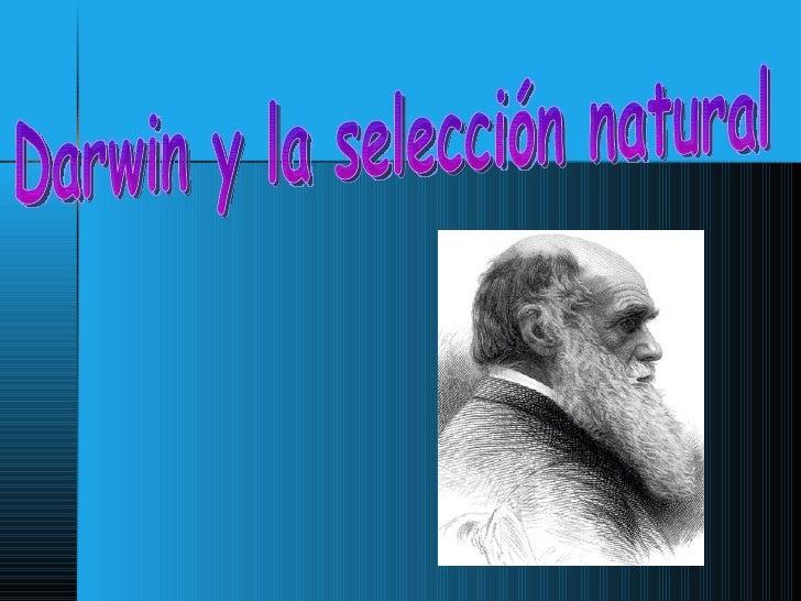 Darwin y la selección natural
