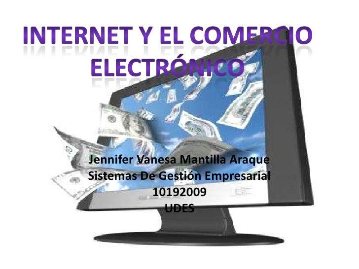 Jennifer Vanesa Mantilla AraqueSistemas De Gestión Empresarial           10192009             UDES