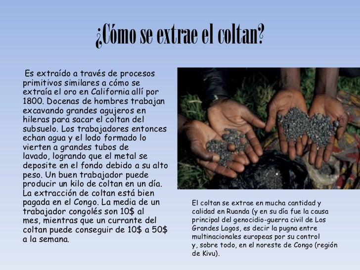 El coltan for Como se extrae el marmol