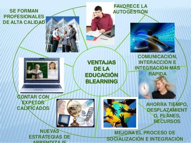VENTAJAS DE LA EDUCACIÓN BLEARNING FAVORECE LA AUTOGESTIÓN COMUNICACIÓN, INTERACCIÓN E INTEGRACIÓN MÁS RAPIDA AHORRA TIEMP...