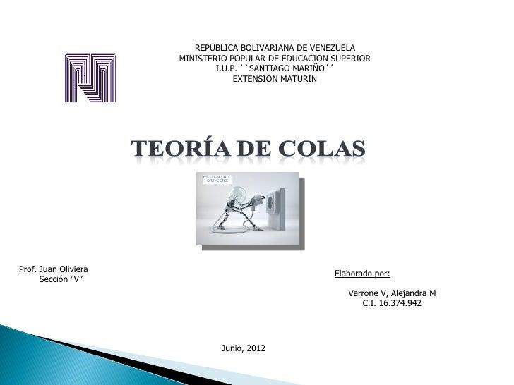 REPUBLICA BOLIVARIANA DE VENEZUELA                      MINISTERIO POPULAR DE EDUCACION SUPERIOR                          ...