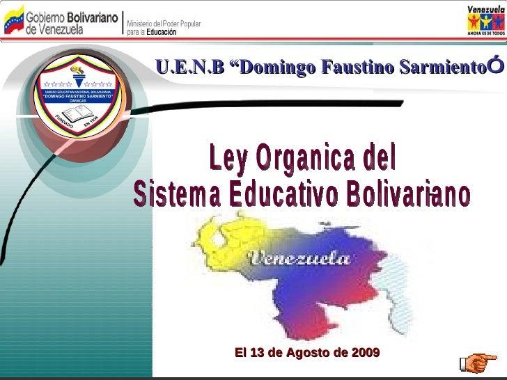 Ley Organica de Educación 2009