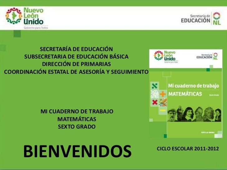 SECRETARÍA DE EDUCACIÓN     SUBSECRETARIA DE EDUCACIÓN BÁSICA           DIRECCIÓN DE PRIMARIASCOORDINACIÓN ESTATAL DE ASES...