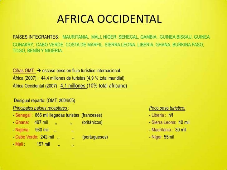 AFRICA OCCIDENTAL<br />PAÍSES INTEGRANTES: MAURITANIA,  MÁLI, NÍGER, SENEGAL, GAMBIA , GUINEA BISSAU, GUINEA CONAKRY,  CAB...