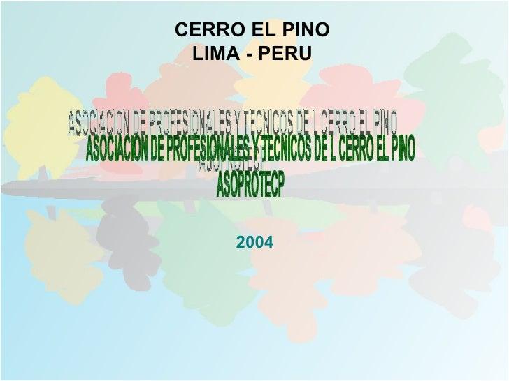 CERRO EL PINO LIMA - PERU     2004
