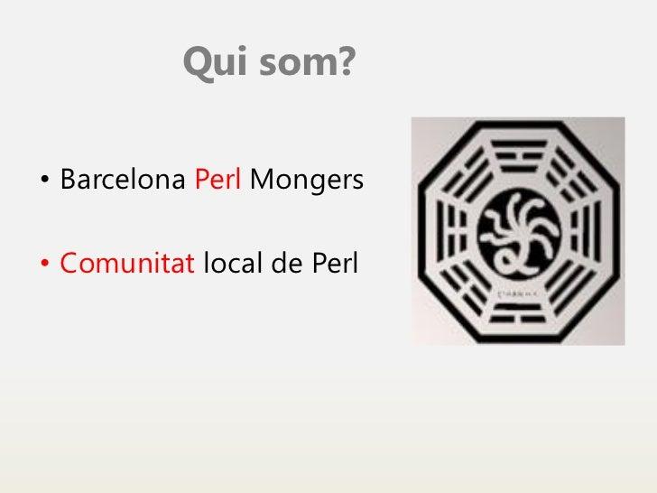 Benvinguda al curs de Perl Slide 3