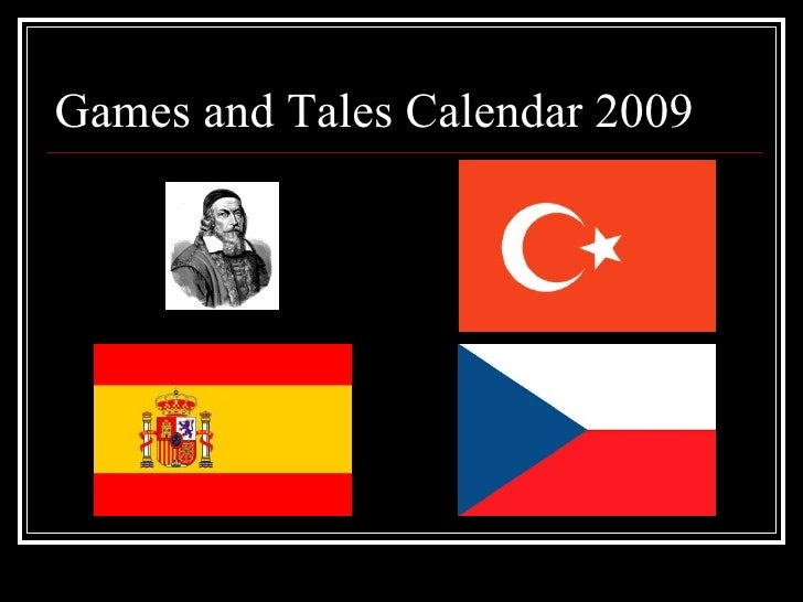 Games and Tales Calendar 2009