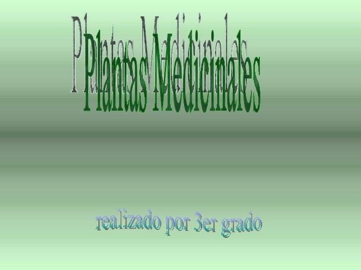 Plantas Medicinales realizado por 3er grado