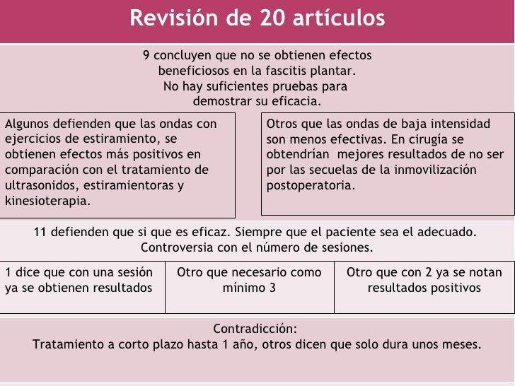 Revisión de 20 artículos                       9 concluyen que no se obtienen efectos                          beneficioso...