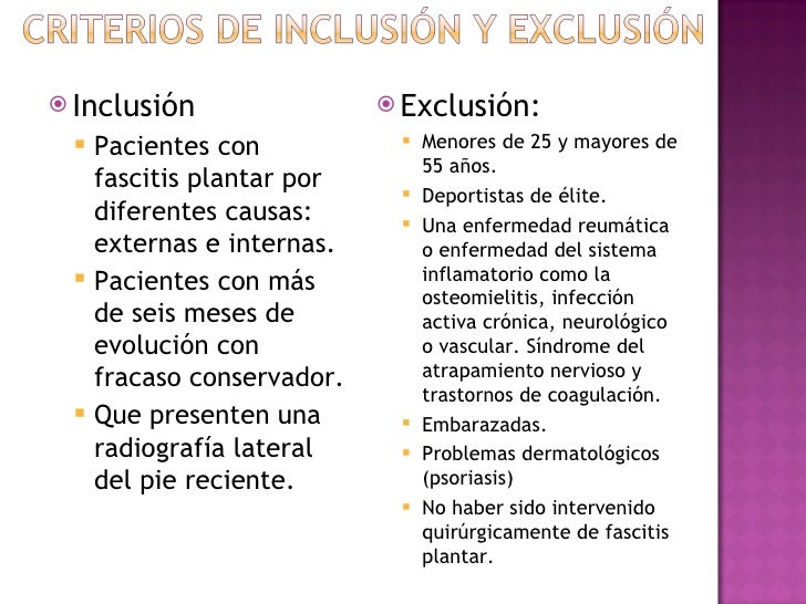  Inclusión                  Exclusión:    Pacientes con              Menores de 25 y mayores de                       ...