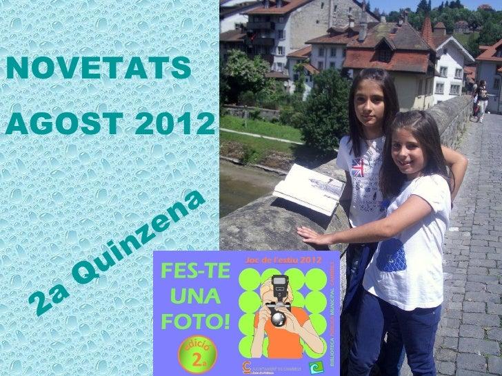 NOVETATSAGOST 2012                     n a                ze           u in       Q 2 a