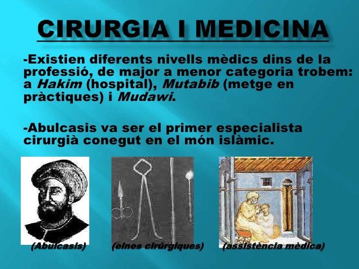 CIRURGIA I MEDICINA<br />-Existien diferents nivells mèdics dins de la professió, de major a menor categoria trobem: a Hak...