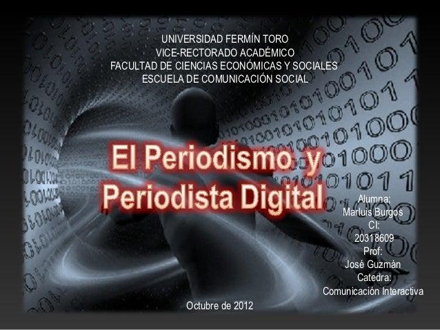 UNIVERSIDAD FERMÍN TORO        VICE-RECTORADO ACADÉMICOFACULTAD DE CIENCIAS ECONÓMICAS Y SOCIALES     ESCUELA DE COMUNICAC...