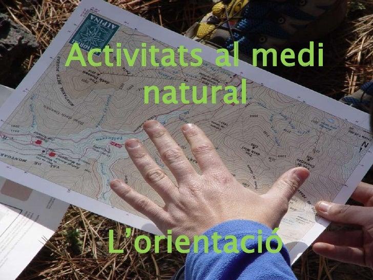 Activitats al medi     natural  L'orientació