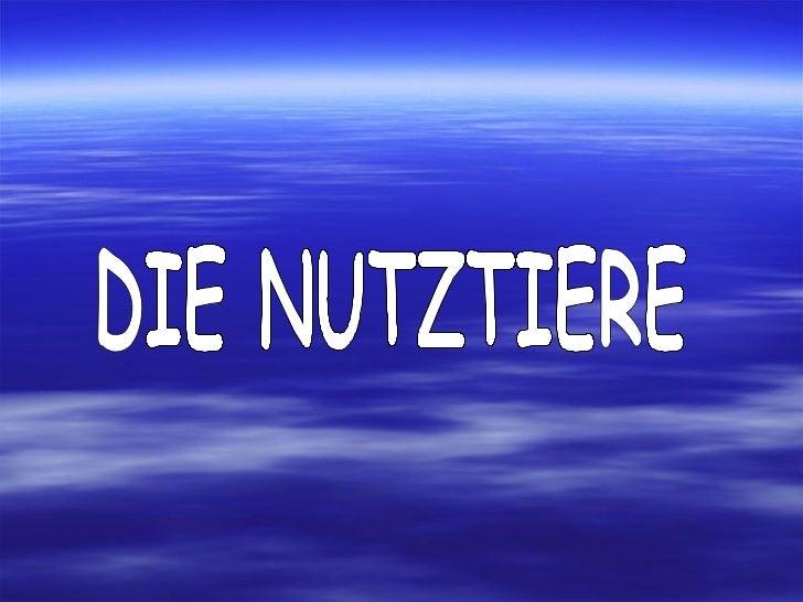 DIE NUTZTIERE