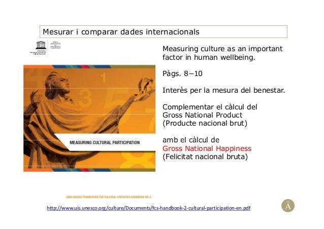 Mesurar i comparar dades internacionalsMeasuring culture as an importantfactor in human wellbeing.Pàgs. 8−10I t è l d l b ...