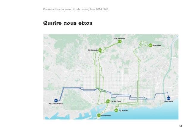 Presentació autobusos híbrids i avanç fase 2014 NXB  Quatre nous eixos  12