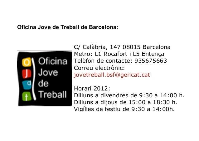 Xerrada el club de feina del servei local d 39 ocupaci s for Oficina treball barcelona