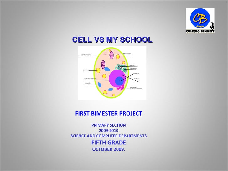 FIRST BIMESTER PROJECT PRIMARY SECTION 2009-2010 SCIENCE AND COMPUTER DEPARTMENTS FIFTH GRADE OCTOBER 2009 . CELL VS MY SC...