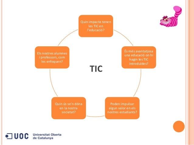 Quin impacte tenenles TIC enleducació?És més avantatjosauna educació on hihagin les TICintroduïdes?Poden impulsaralgun val...