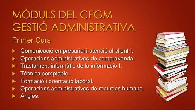 Presentaci cicles formatius oliana for Oficina gestio empresarial