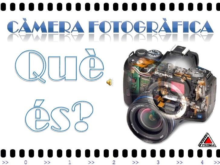 Es pot dir que una càmera fotogràfica és una caixa obscura que deixa passar la llum el temps just per a què aquesta imprim...