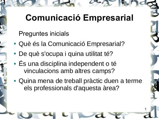 Presentació Comunicació Empresarial Slide 2