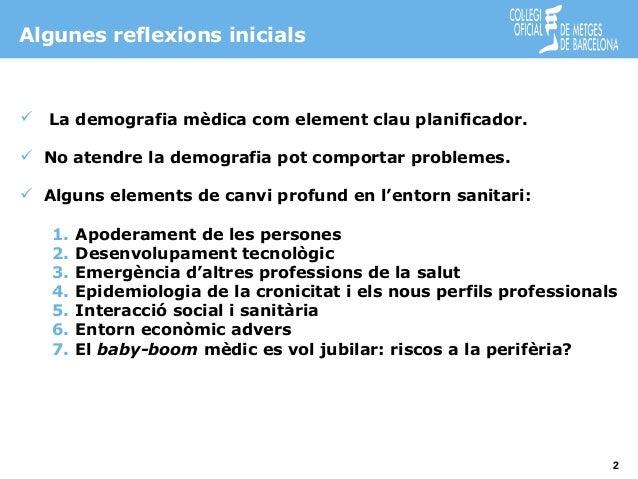 La demografia mèdica a Osona. Anàlisi de les dades obtingudes Slide 2