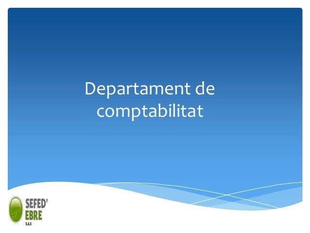 Departament de comptabilitat