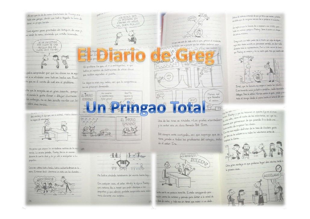 """Mi libro favorito se llama :El diario de Greg un """"Pringao"""" Total.                       Este libro lo ha escrito Jeff Kinn..."""