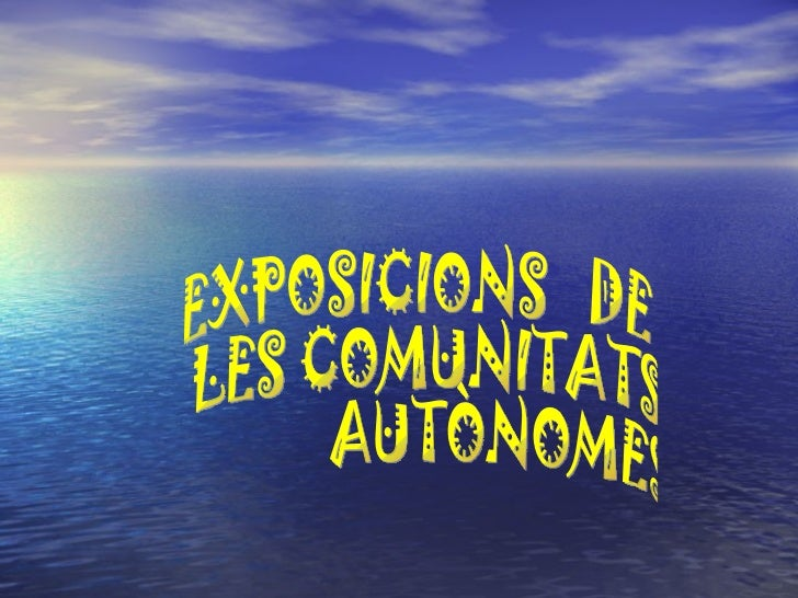 Presentació exposicions comunitats autònomes