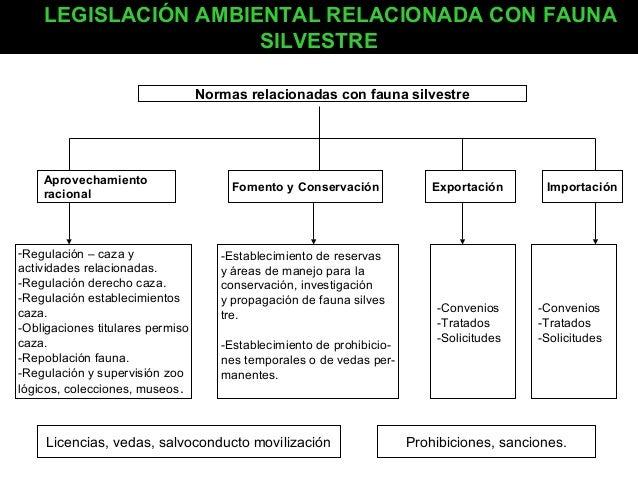 LEGISLACIÓN AMBIENTAL RELACIONADA CON FAUNA SILVESTRE Normas relacionadas con fauna silvestre  Aprovechamiento racional  -...